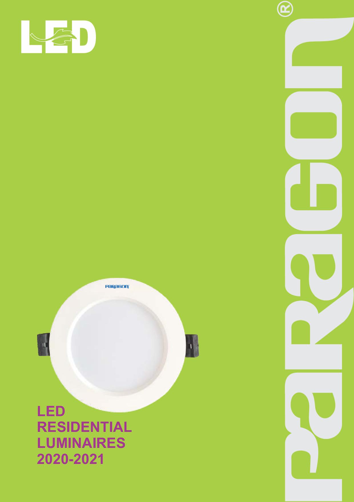 Bảng giá đèn dân dụng Paragon